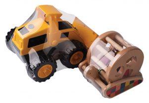 Zabawki spakowane w folię termokurczliwą PCV