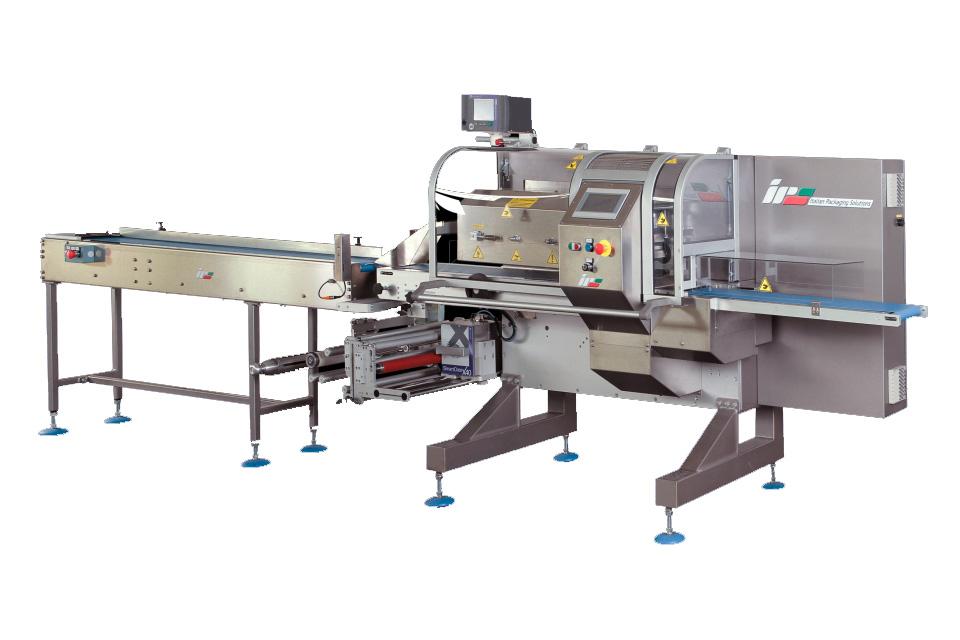 maszyna flow-pack z dolnym podawaniem folii