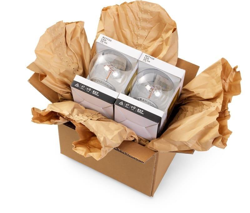 papierowe zabezpieczenia wysyłanych paczek